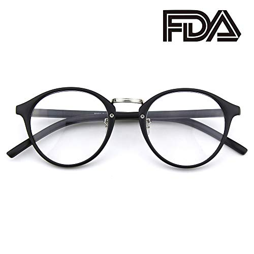 a2bdd1e09f Happy Store CN65 Vintage Inspired Horned Rim Metal Bridge P3 UV400 Clear  Lens Glasses - Buy Online in Oman.