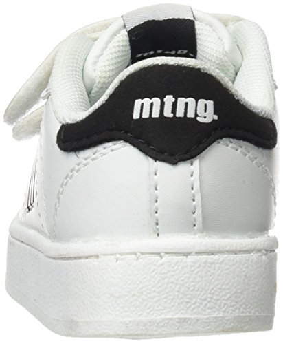 MTNG Unisex-Kinder Agon Sneaker Mehrfarbig (Action Pu Blancoraspe Negro)
