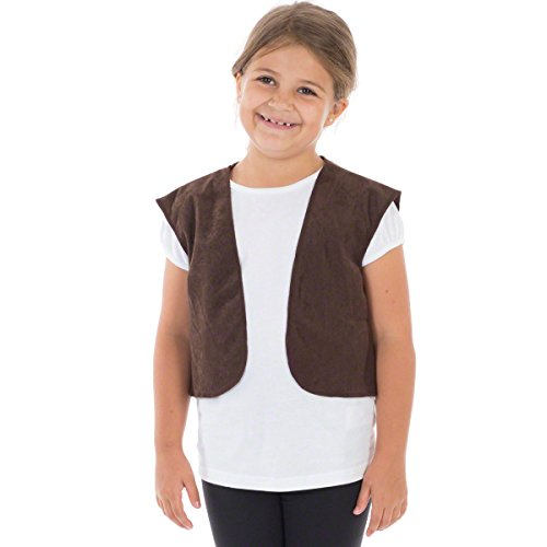 Charlie Crow Brown Waistcoat for Kids one Size fits All 3-8 Years]()