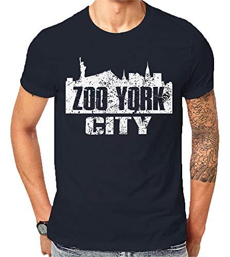 Scralandore Design Zoo York New York City NYC - Estatua de Manzana Grande de la Libertad USA Love America y Camisetas de...