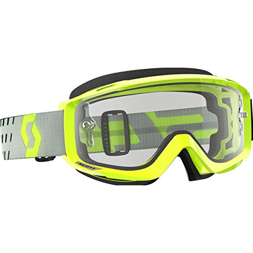 Scott Split OTG Adult Off-Road Motorcycle Goggles - Yellow/Grey/Clear/One ()