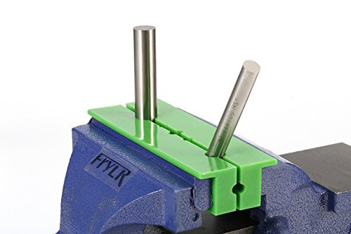 Frylr 6'' Magnetic Multi-Groove soft Vise Jaws/Vice pads (1:5'' 8''1.5'', Green) TPU rubber/hold and protect round, hexagonal, or serrated parts. by Frylr