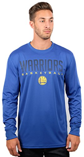 UNK NBA Men's T Athletic Quick Dry Long Sleeve Tee Shirt, Royal, Large