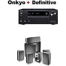 Onkyo TX-NR686 Receiver + Definitive Technology ProCinema 600 5.1 Home Theater Speaker System Bundle