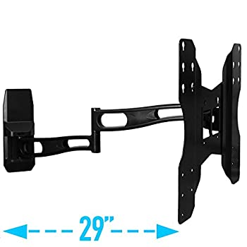 Image of TV Ceiling & Wall Mounts Aeon Stands and Mounts Full Motion Wall Mount with 29-Inch Extension for 32 to 65-Inch TV