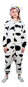 Emolly Adult Animal Cow Onesie Pajamas Costume