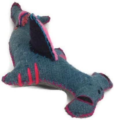 "11/"" Long Plush Colorful Natural Wool Medium Twoolies Hammerhead Shark"