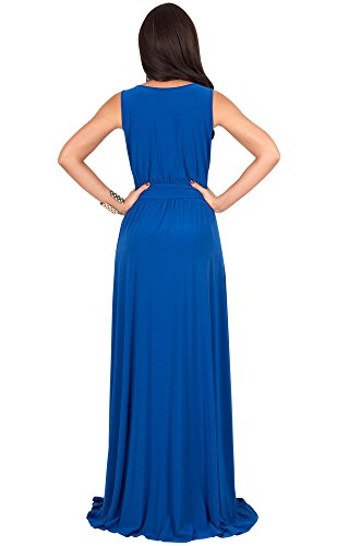 367c17abaf55 KOH KOH Womens Long Sleeveless Flowy Bridesmaid Cocktail Evening Gown Maxi  Dress