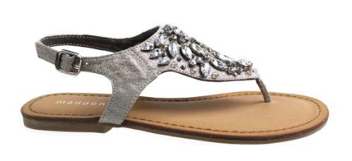 Madden Girl Women's Saadie Dress Sandal,Pewter,8 M US