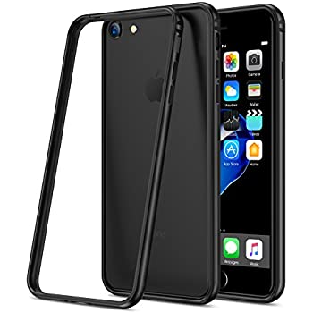 RANVOO iPhone 8 Premium Bumper Case, Compatible with iPhone 7, Flexible Protective Aluminum TPU Hybrid Bumper Frame [Support Wireless Charging] for Apple iPhone 8 and iPhone 7, Space Gray [ARMOR]