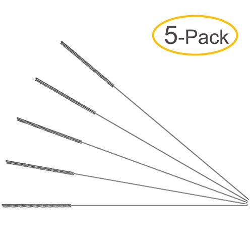 """0.4mm Drill Bits - 3D Printer Nozzle Cleaning Kit - Stainless Steel, 4.1"""" Length (5-Pack)"""