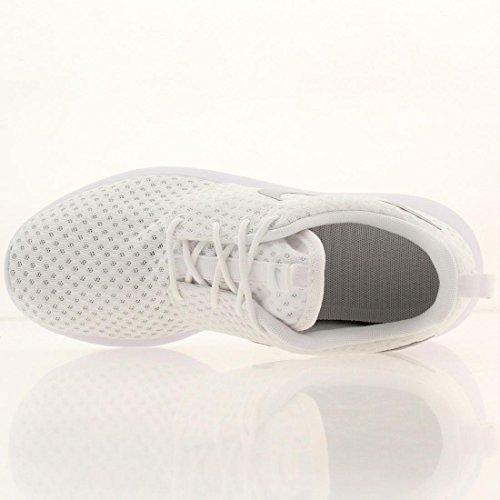 Nike Wmns Rosherun Br - Zapatillas para mujer Blanco/Metálico Platino