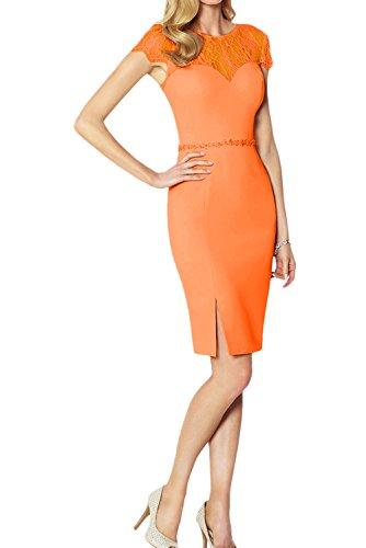 Abendkleider Neu Orange Rund Damen Cocktailkleider Kurzarm Modisch Partykleider Ivydressing mit 2017 Spitze gq5ax8