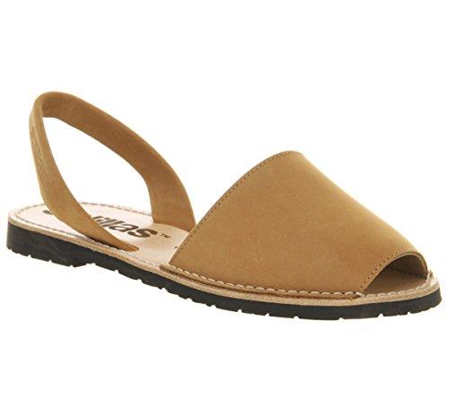 Solillas Original Women's Menorcan Sandals - Nubuck Leather Tan Leather