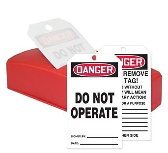 """Accuform signos tdr162 quicktags seguridad etiqueta dispensador, 8 cm de largo x 4 """""""