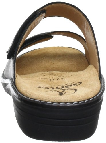 Ganter Hera, Weite H 5-205861-01000 - Zuecos de cuero para mujer Negro (Schwarz (schwarz 0100))
