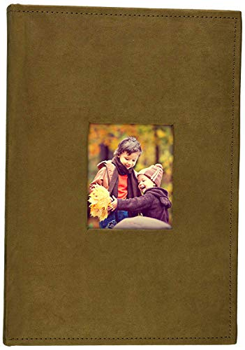 This beautiful suede hard covered photo album is perfect for your memorable photos and sharing amongst families and friends. It holds 300 4x6 inch pictures, each page displays 3 pictures with a memo writing area. The front cover features a 4x4.75 inc...