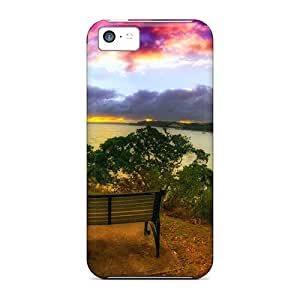 Premium PTlah14258LhOla Case With Scratch-resistant/ Hdr Looking At The River Case Cover For Iphone 5c