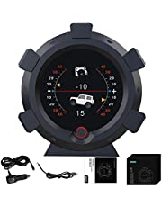 GPS Navigation for car, Hud Head Up Display X95 Digital Speedometer Off-Road Vehicle Pitch Angle Alarm Altimeter Slope Meter Speedometer for Car Over-Speed AlarmCar Gadgets