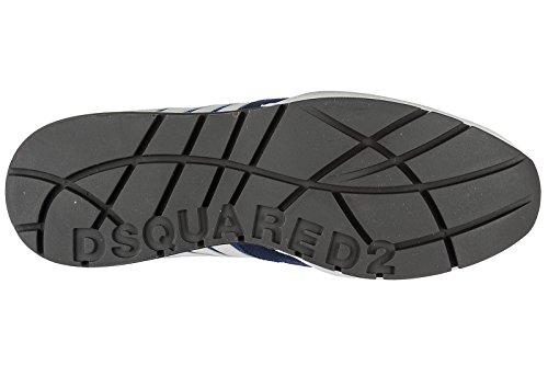 Dsquared2 Herrenschuhe Herren Wildleder Sneakers Schuhe 251 blu