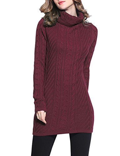 Rocorose Turtleneck Sleeves Knitted Sweater
