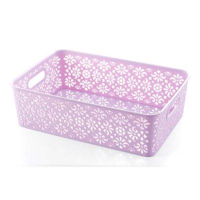 Gome-z 1Pcs New Storage Box Underwear Bra Socks Tie Organizer Divider Boxes Closet Organizers Without Cover Underwear Storage Basket L Nordic purple