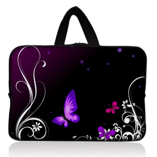 """Purple Butterfly Universal 7"""" 7.7"""" 8"""" Carrying Bag Case Cove"""