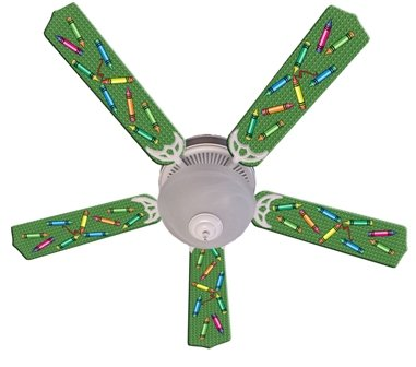 Ceiling Fan Designers 52FAN-IMA-KCC Kids Colorful Crayons Ceiling Fan 52 In.