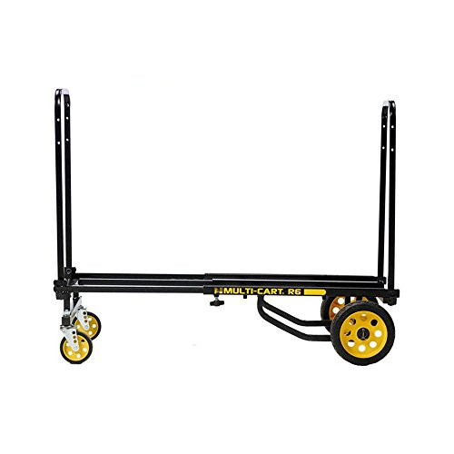 "Rock-N-Roller R6RT (Mini) 8-in-1 Folding Multi-Cart/Hand Truck/Dolly/Platform Cart/29"" to 42.5"" Telescoping Frame/500 lbs. Load Capacity, Black from Rock-N-Roller"