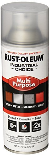Rust-Oleum 1610830 Crystal Clear 1600 System General Purpose Enamel Spray Paint, 16 fl. oz. container, 12 oz. weight fill, Can (Pack of 6) by Rust-Oleum (Enamel Crystal Clear Rust Oleum)