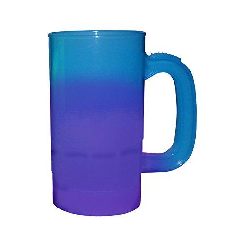 Oz Plastic 14 Stein (14oz Color Changing Beer Stein, set of 6, Blue-Purple …)