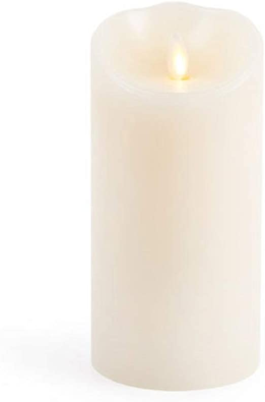 """Large Luminara Flameless Candle 360 Degree Top Unscented Moving Flame Candle 14/"""""""