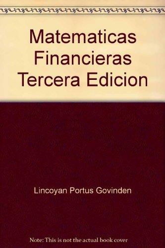 Matematicas Financieras Tercera Edicion