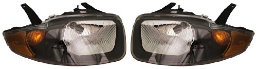 03-05 Chevy Cavalier Headlights Headlamps Head Lights Lamps Pair Set (Chevy Chevrolet Cavalier Headlight)