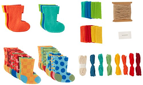 Amazon.com: Dimensions Needlecrafts Dimensions Advent Stocking Garland Felt Applique Kit, 72-08280
