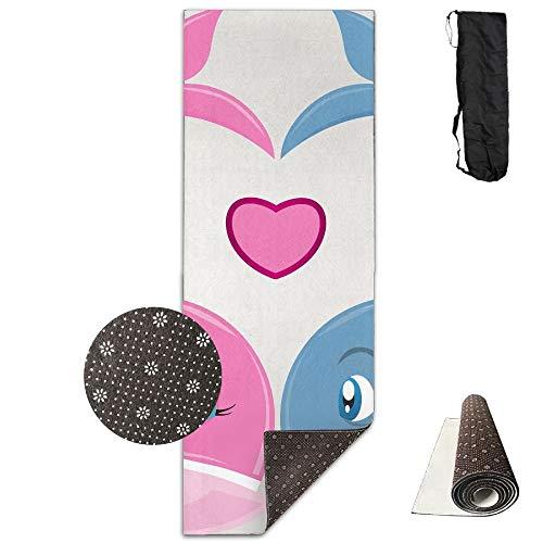 Valentine's Day Whales Couple Deluxe,Yoga Mat Aerobic Exercise Pilates Anti-Slip Gymnastics Mats