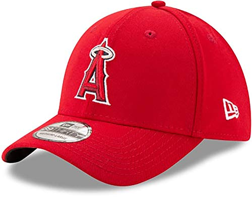 (MLB Los Angeles Angels Team Classic Game 39Thirty Stretch Fit Cap, Red, Medium/Large)
