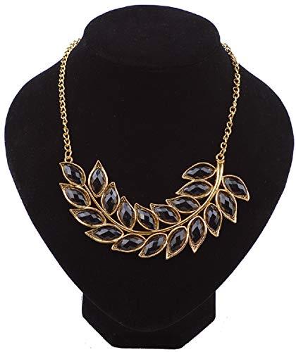 Wcysin Women Girls Bohemia Necklace Crystal Chain Pendant Jewelry (Black)