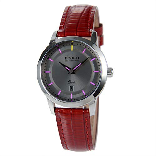 EPOCH 6023L 50m Water Resistant T25 Tritium Luminous Vogue Business Dress Lady Women Quartz Watch Wristwatch (P4)
