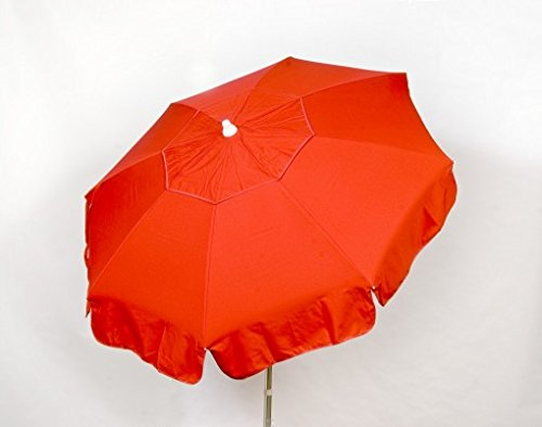 Cheap Heininger 1354 DestinationGear Italian Red 6′ Acrylic Solid Beach Pole Umbrella