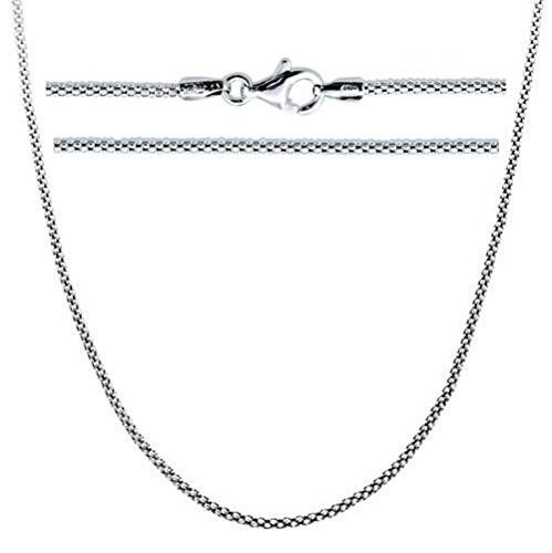 Sterling Silver Popcorn Chain Necklace 20 - Necklace 20 Inch 2mm