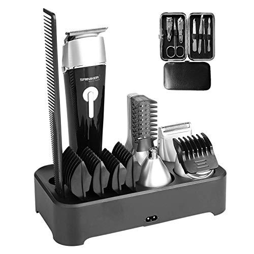 Sminiker 5 in 1 Waterproof Man's Grooming Kit Hair Clippers Beard Trimmer...