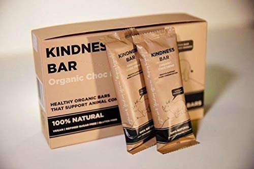 Rhino Kindness Energy Bars Contains Dates, Almond, Pea Protein, Dark Chocolat, Sea Salt Healthy Protein Snack, Vegan Nutrition Bar Plant-Based, Gluten-Free 45g, 10 Pack