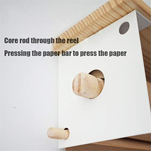 INS Mode Metallwandmontierte Papierrollenschneidemaschine - 1 Spender, 1 Wiederverwendbares Roller-Kraftpapier, 1 Horizontal Gegossener Horizontaler Befestigungsstreifen, 1 Holzbrett,45cm/17.7In