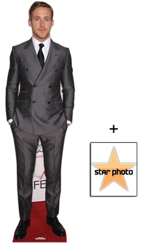 Fan Pack - Ryan Gosling Lifesize Cardboard Cutout / Standee - Includes 8X10 (25X20Cm) Star Photo