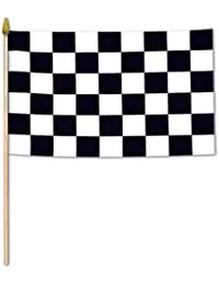 CheckOut Beistle 50982 12-Pack Checkered Rayon Flags, 4 by 6-Inch deliver