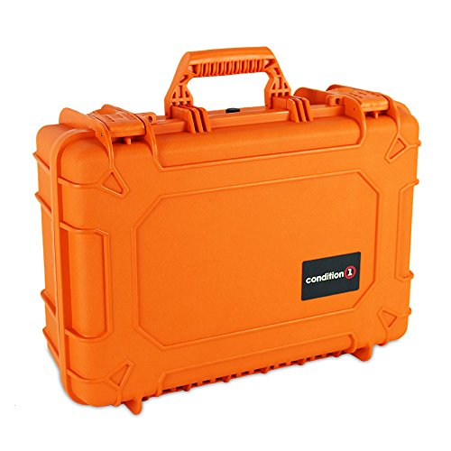 Condition 1 18'' Medium #801 Orange Waterproof Hard Case with DIY Customizable Foam by Condition 1