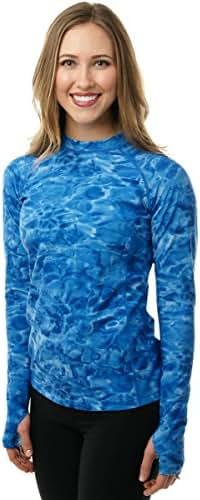 Aqua Design Womens Rash Guard Long Sleeve - Swim Shirt Rashguard for Women