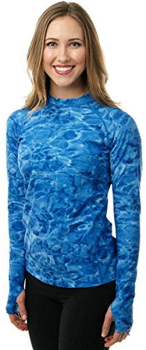 Aqua-Design-Women-Rash-Guard-Loose-Fit-Long-Sleeve-With-Thumb-Holes