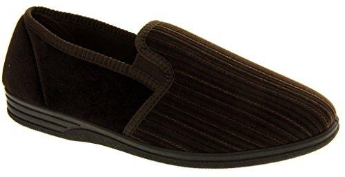 Quatre saisons pour homme-Gents Chaussures à enfiler tailles disponibles Marron - 12 Cordon dessus